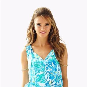 EUC Lilly Pulitzer Tybee Romper In A Pinch